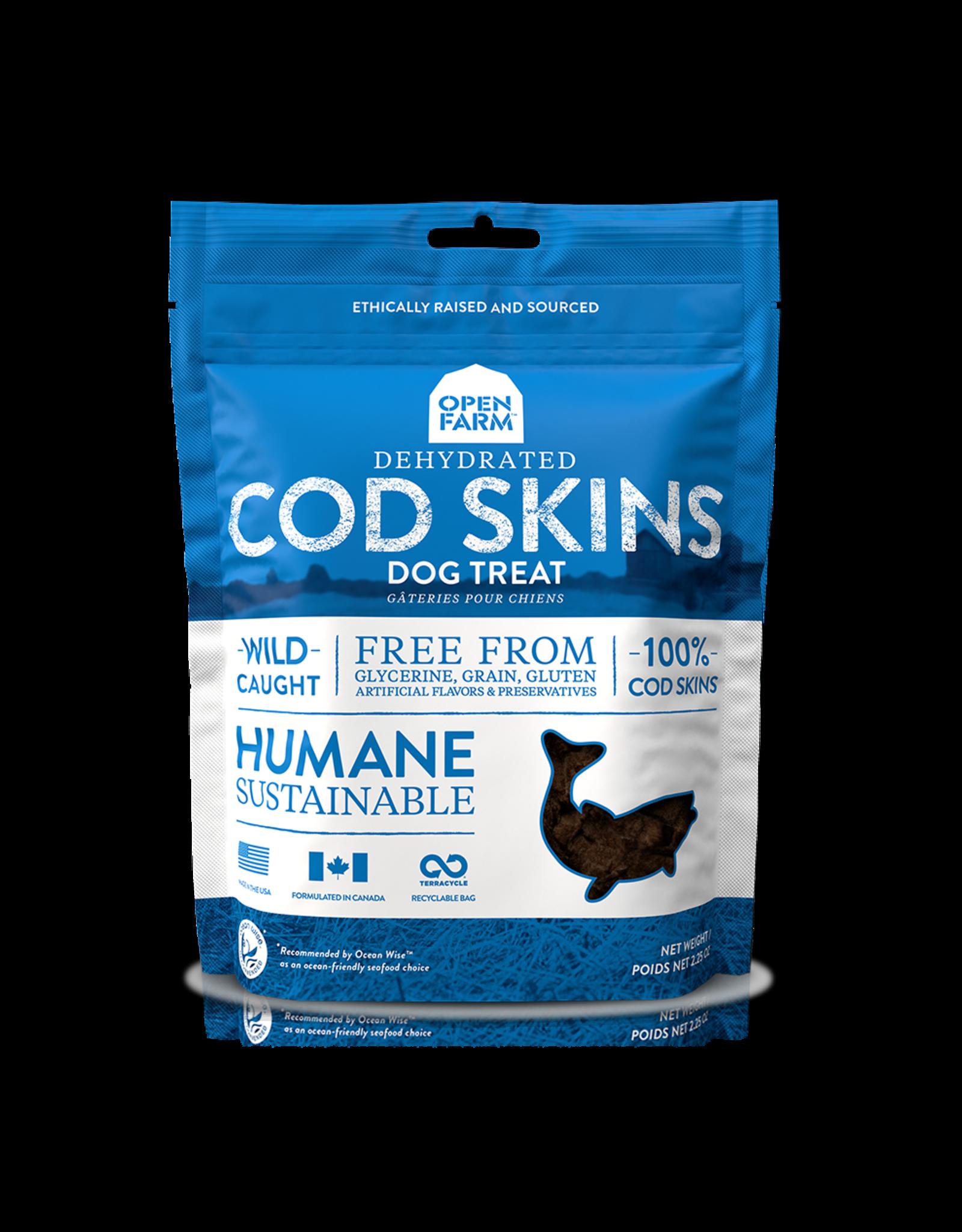 Open Farm OPEN FARM DEHYDRATED COD SKINS DOG TREAT 2.25OZ