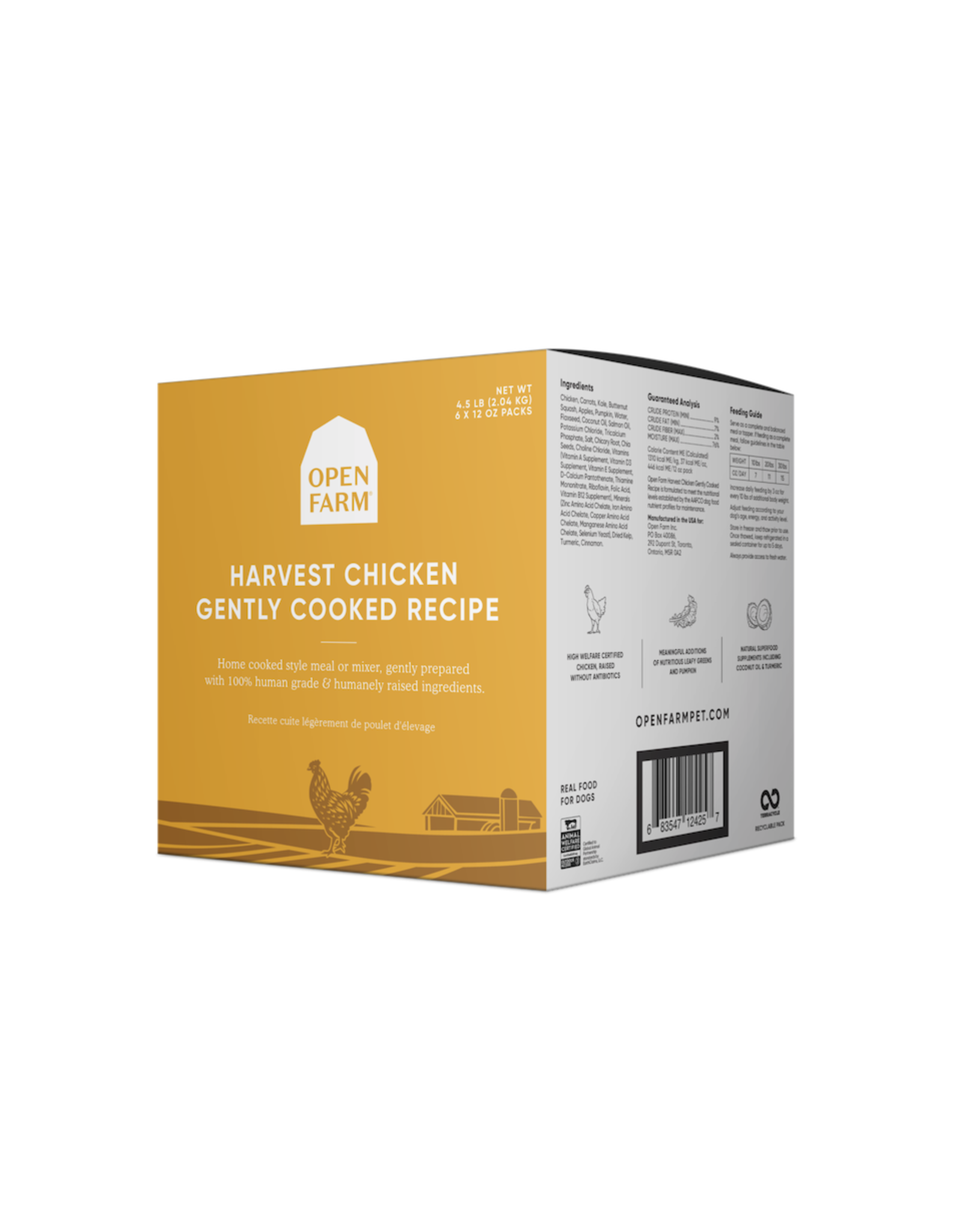 Open Farm OPEN FARM DOG HARVEST CHICKEN GENTLY COOKED RECIPE