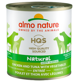 Almo Nature ALMO NATURE DOG HQS NATURAL CHICKEN & TUNA ENTRÉE WITH VEGETABLES IN BROTH 9.87OZ