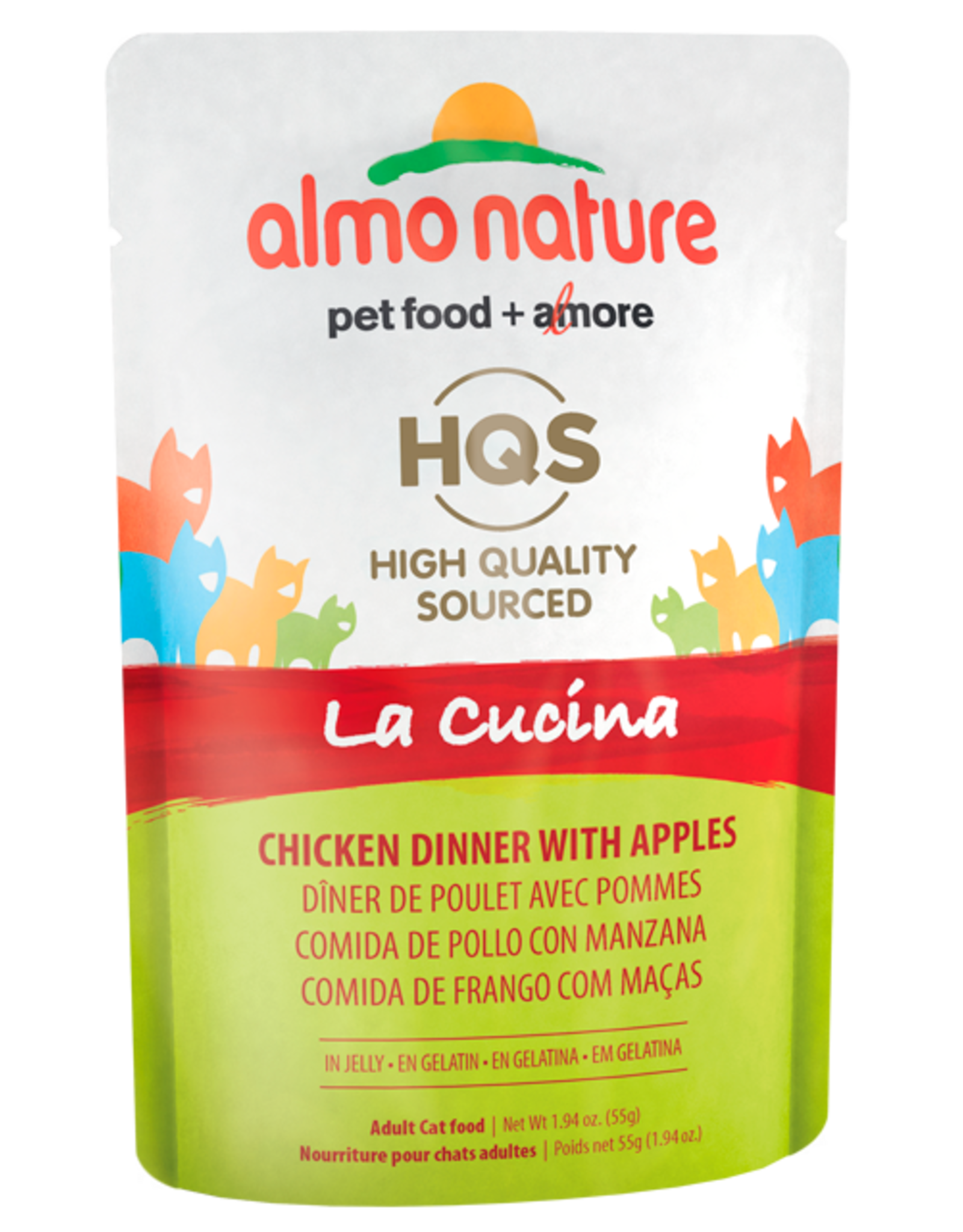 Almo Nature ALMO NATURE CAT HQS LA CUCINA CHICKEN DINNER WITH APPLES IN JELLY 1.94OZ
