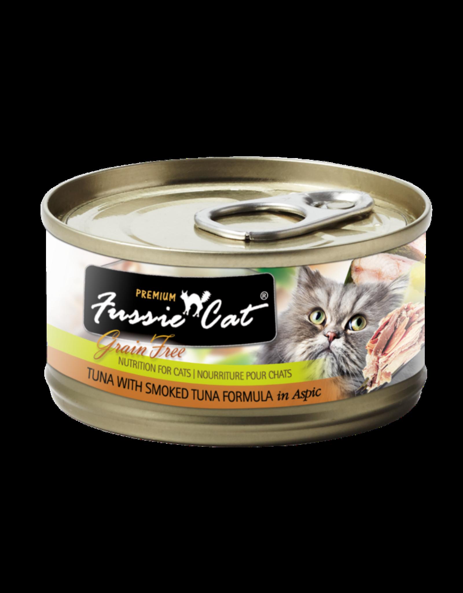 Fussie Cat FUSSIE CAT PREMIUM TUNA WITH SMOKED TUNA FORMULA IN ASPIC 2.8OZ