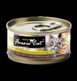 Fussie Cat FUSSIE CAT PREMIUM TUNA WITH CLAMS FORMULA IN ASPIC 2.8OZ