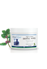 TrueBluePets TRUEBLUE FAST & FRESH DENTAL WIPES WITH PARSLEY & PEPPERMINT 50-COUNT