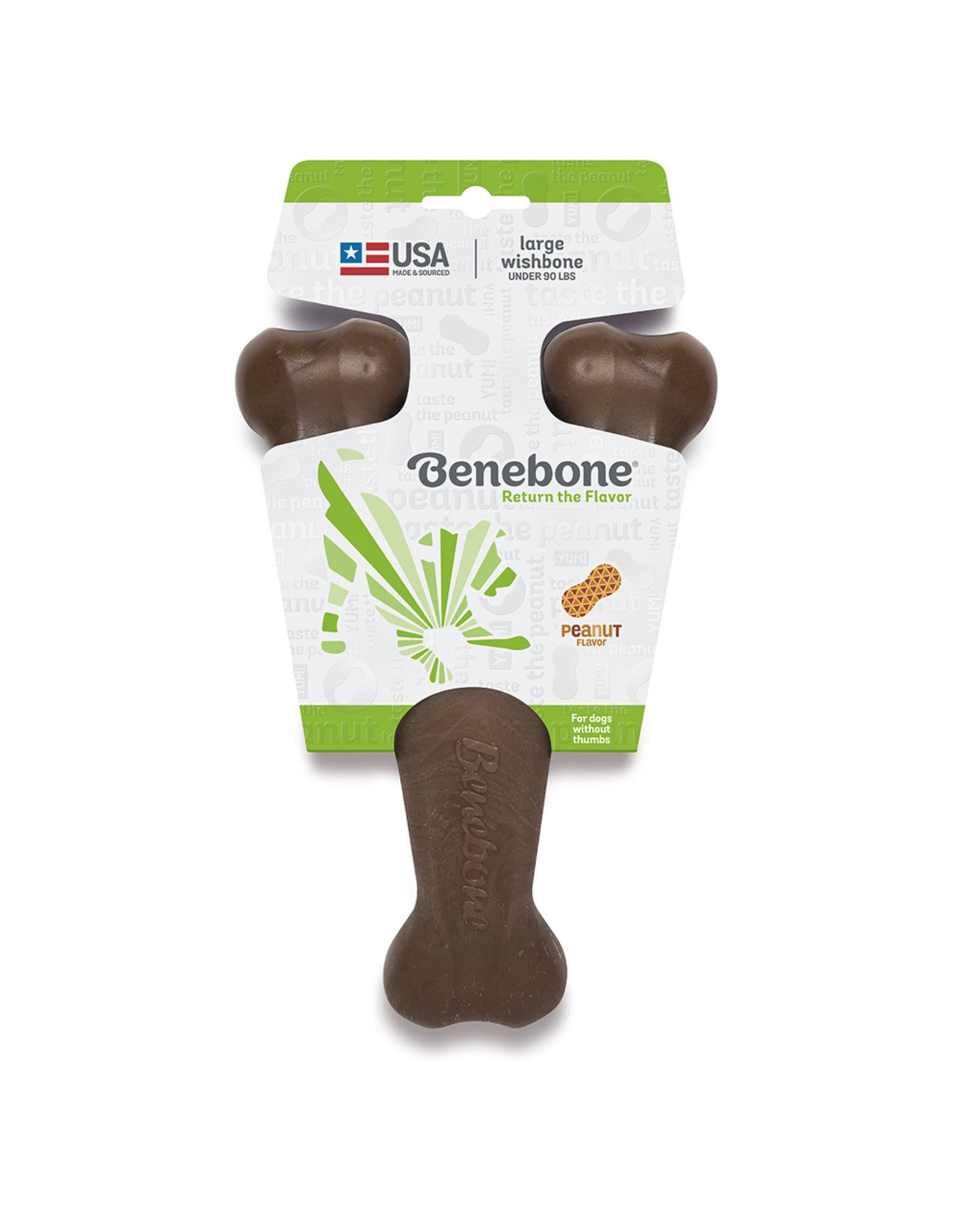 Benebone BENEBONE PEANUT WISHBONE CHEW TOY