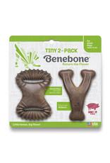 Benebone BENEBONE TINY 2-PACK BACON DENTAL CHEW TOY & WISHBONE CHEW TOY