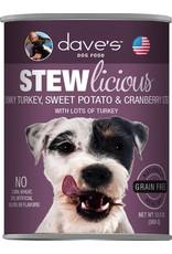 Dave's Pet Food DAVE'S DOG STEWLICIOUS CHUNKY TURKEY, SWEET POTATO & CRANBERRY STEW 13.2OZ