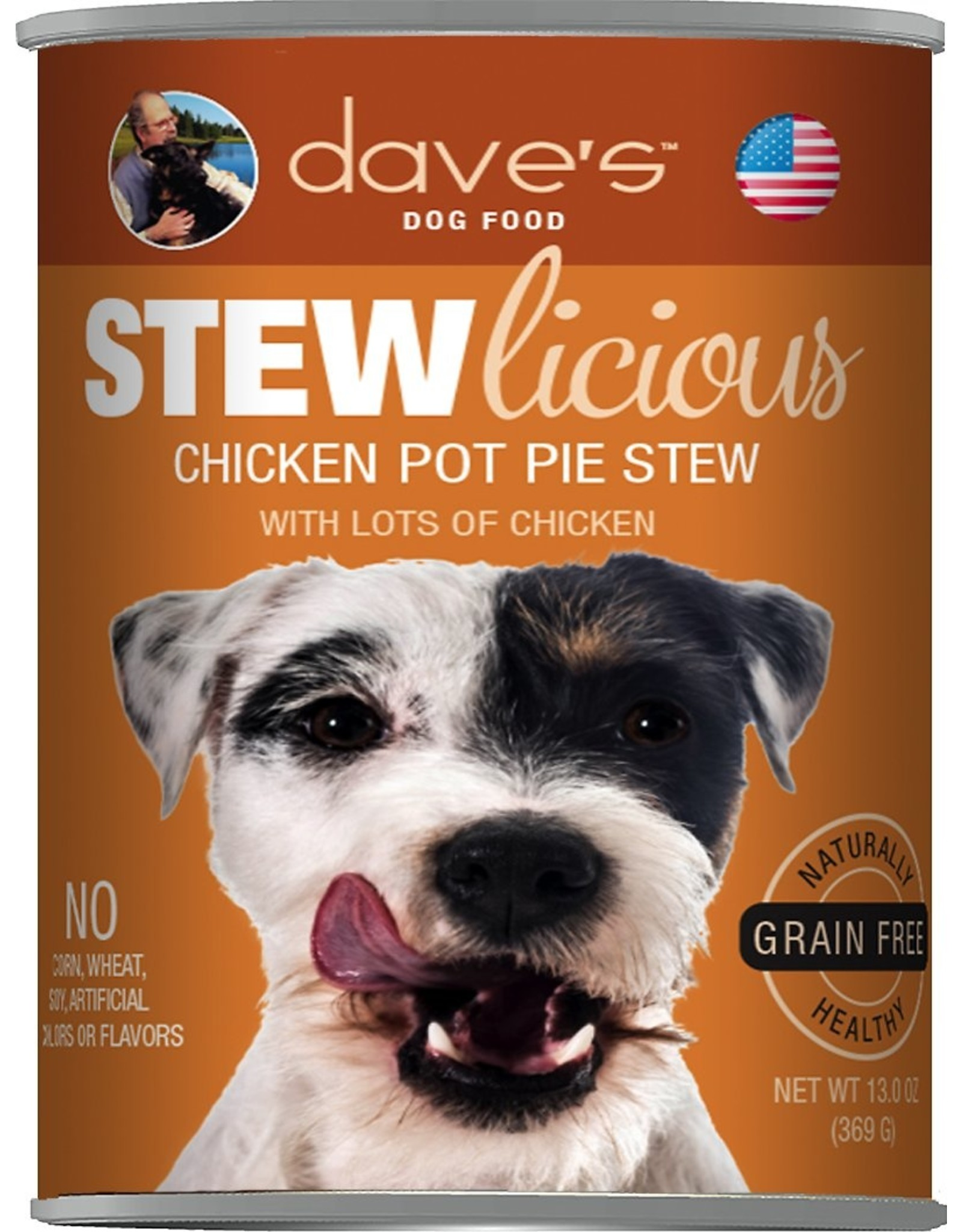 Dave's Pet Food DAVE'S DOG STEWLICIOUS CHICKEN POT PIE STEW 13OZ