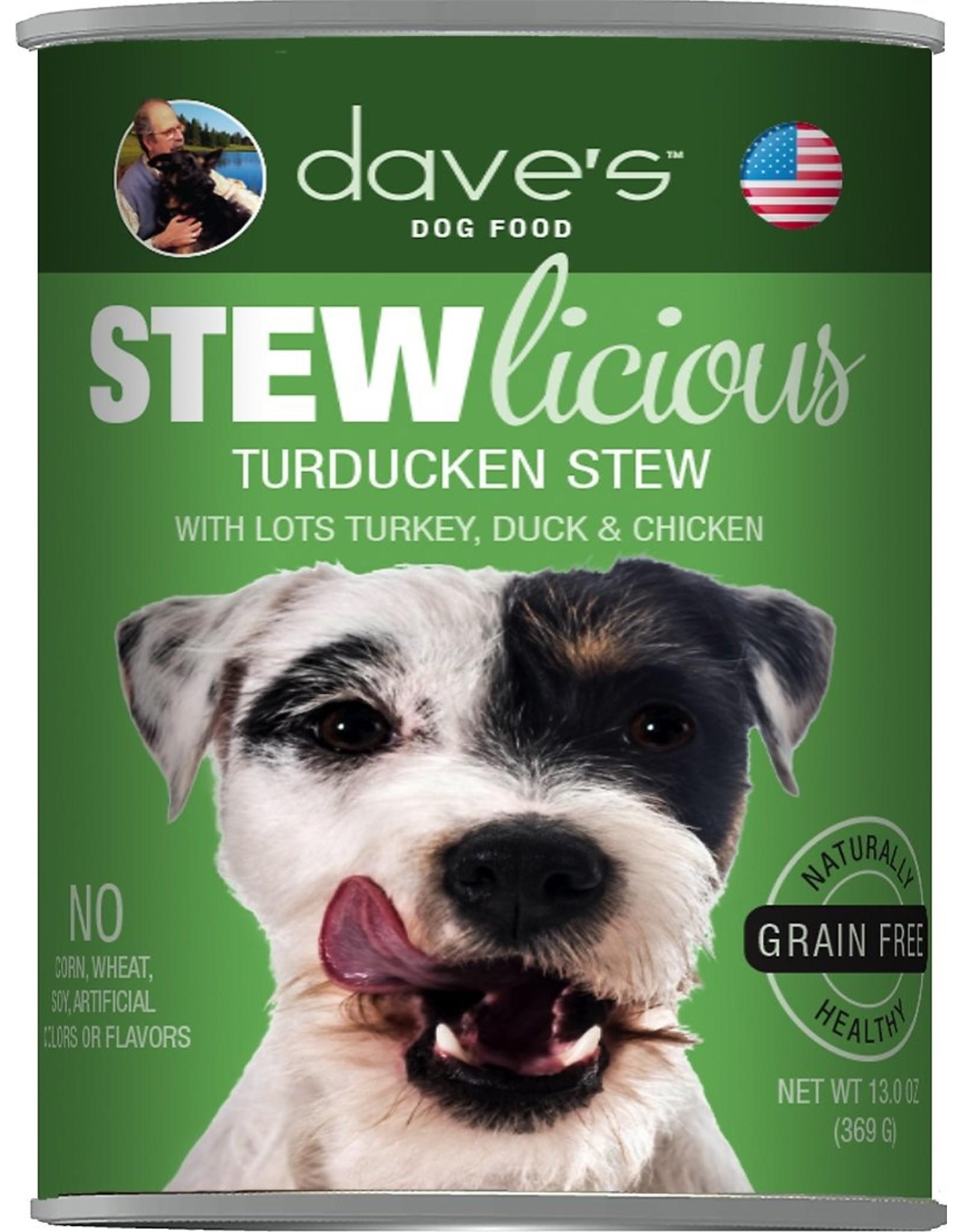 Dave's Pet Food DAVE'S DOG STEWLICIOUS TURDUCKEN STEW 13.2OZ