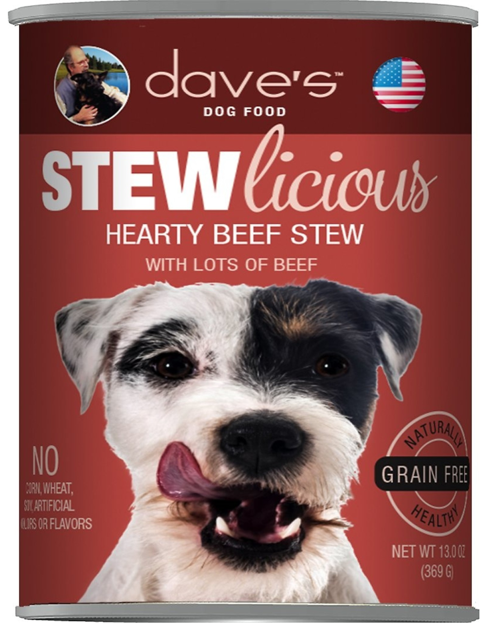 Dave's Pet Food DAVE'S DOG STEWLICIOUS HEARTY BEEF STEW 13.2OZ