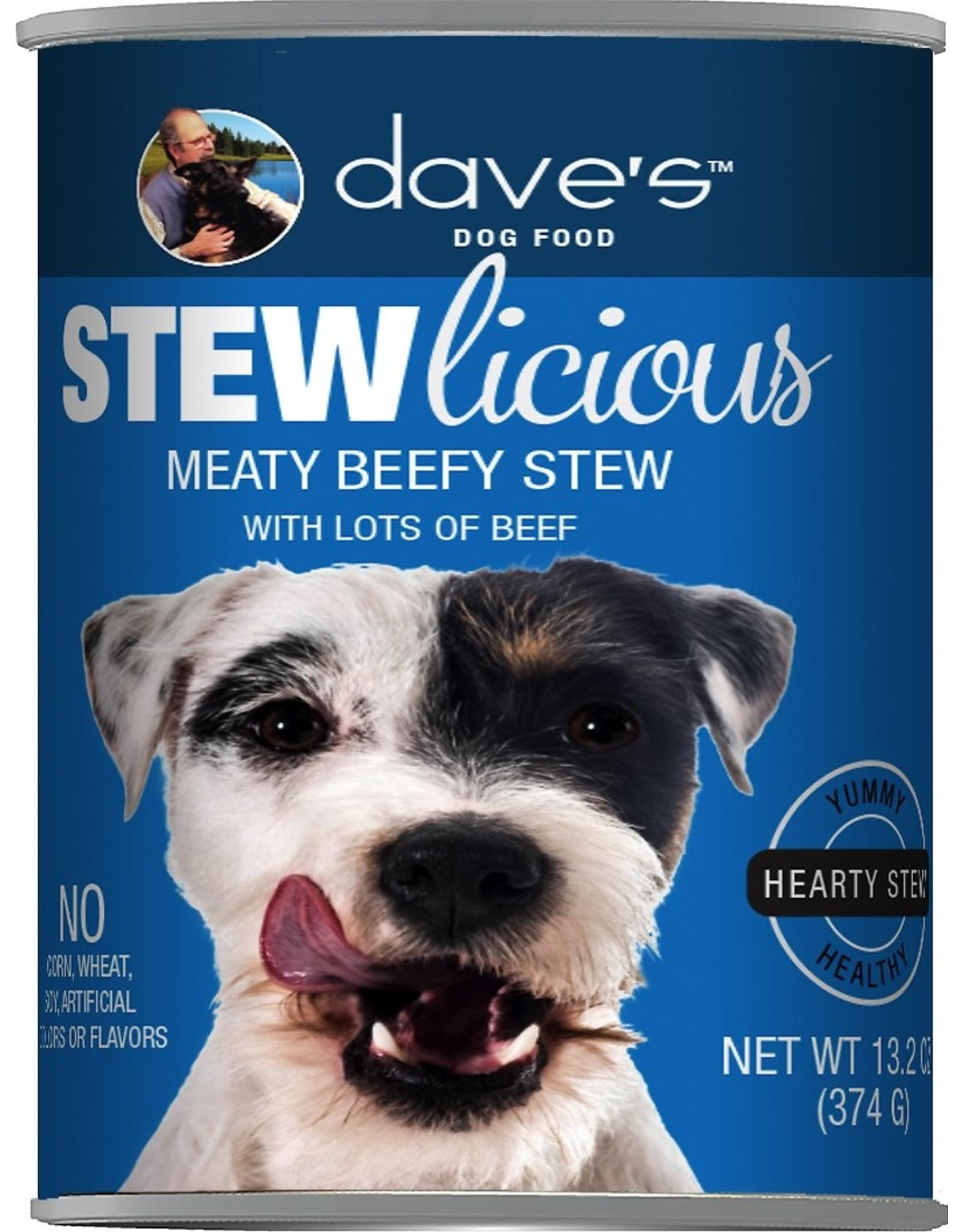 Dave's Pet Food DAVE'S DOG STEWLICIOUS MEATY BEEFY STEW 13.2OZ