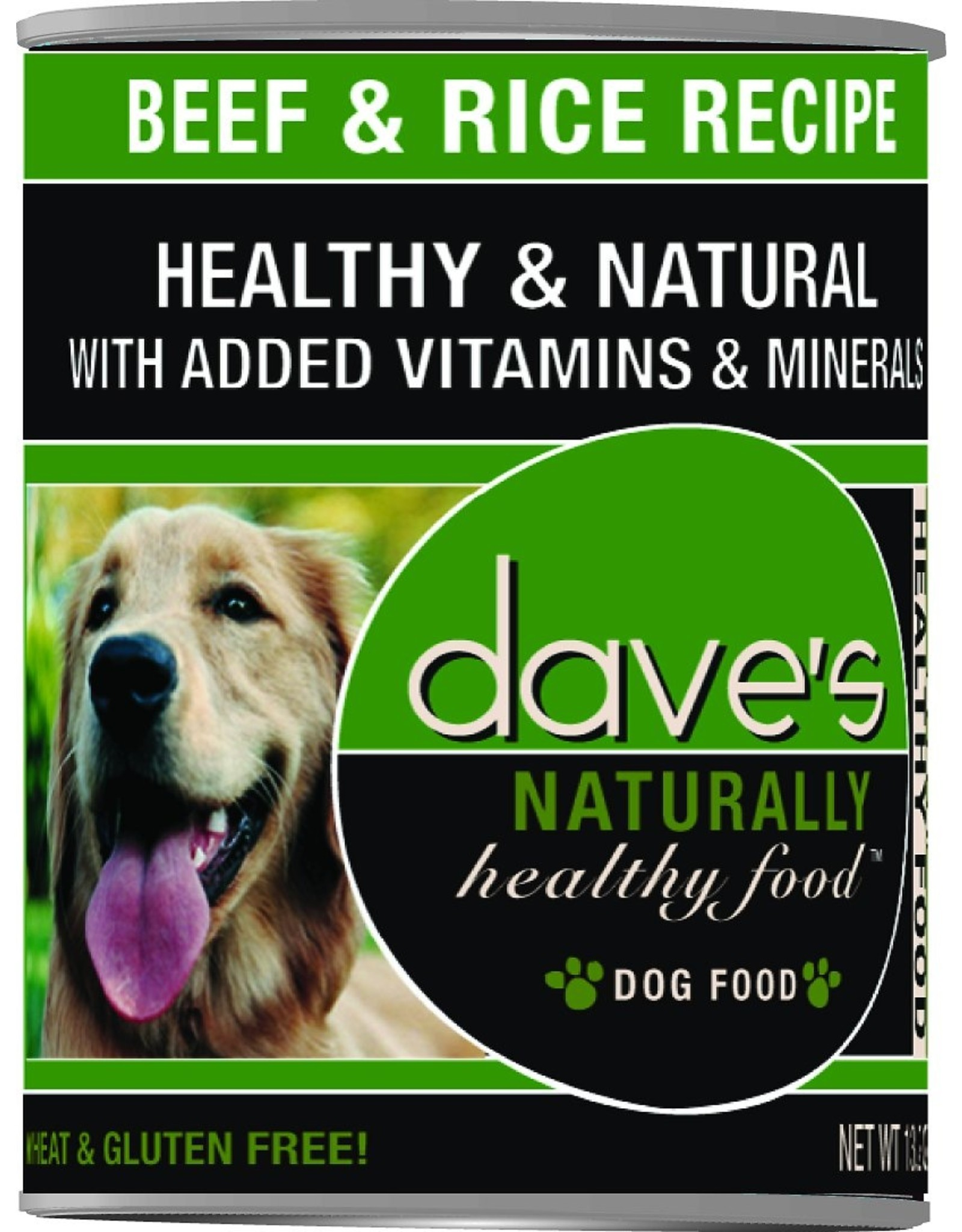 Dave's Pet Food DAVE'S DOG NATURALLY HEALTHY FOOD BEEF & RICE