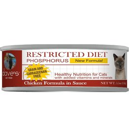 Dave's Pet Food DAVE'S CAT RESTRICTED DIET PHOSPHORUS CHICKEN FORMULA IN SAUCE 5.5OZ