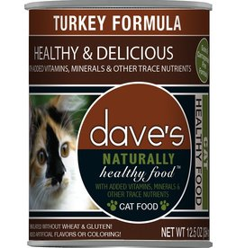 Dave's Pet Food DAVE'S CAT NATURALLY HEALTHY FOOD TURKEY FORMULA 12.5OZ