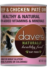 Dave's Pet Food DAVE'S CAT NATURALLY HEALTHY FOOD BEEF & CHICKEN PATÉ DINNER