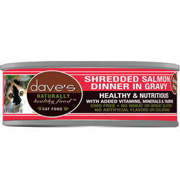 Dave's Pet Food DAVE'S CAT NATURALLY HEALTHY FOOD SHREDDED SALMON DINNER IN GRAVY 5.5OZ