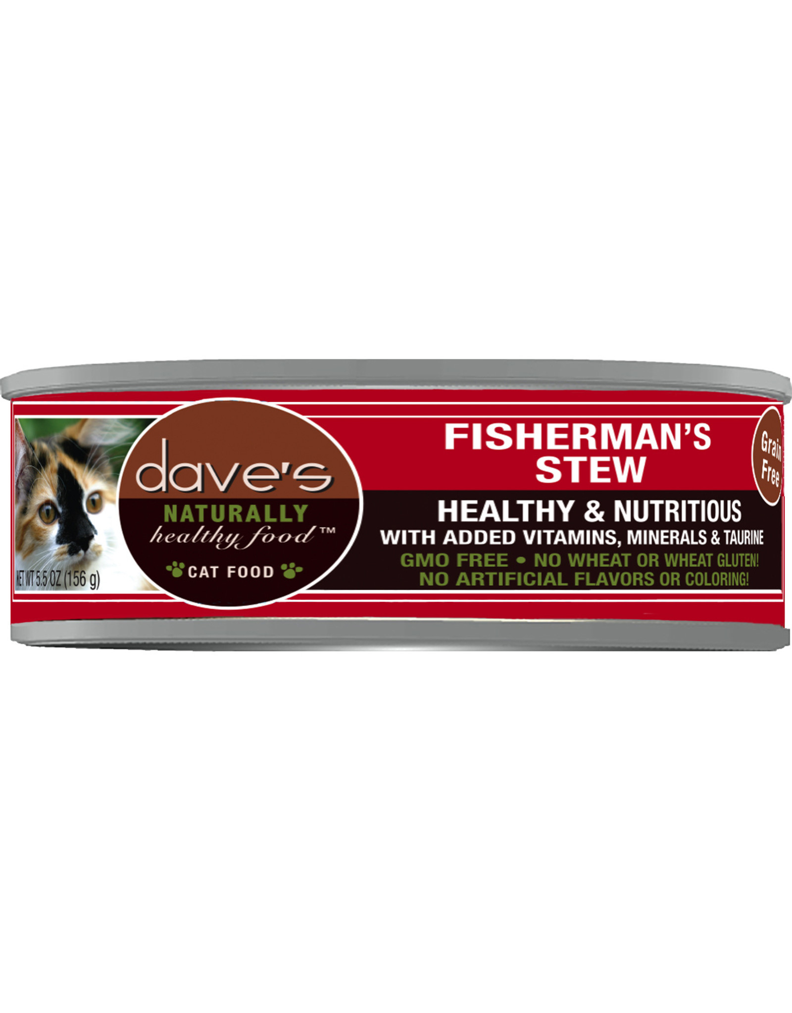Dave's Pet Food DAVE'S CAT NATURALLY HEALTHY FOOD FISHERMAN'S STEW 5.5OZ