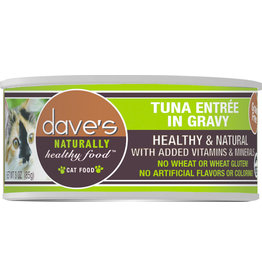 Dave's Pet Food DAVE'S CAT NATURALLY HEALTHY FOOD TUNA ENTRÉE IN GRAVY 5.5OZ