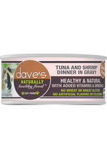 Dave's Pet Food DAVE'S CAT NATURALLY HEALTHY FOOD TUNA AND SHRIMP DINNER IN GRAVY 5.5OZ