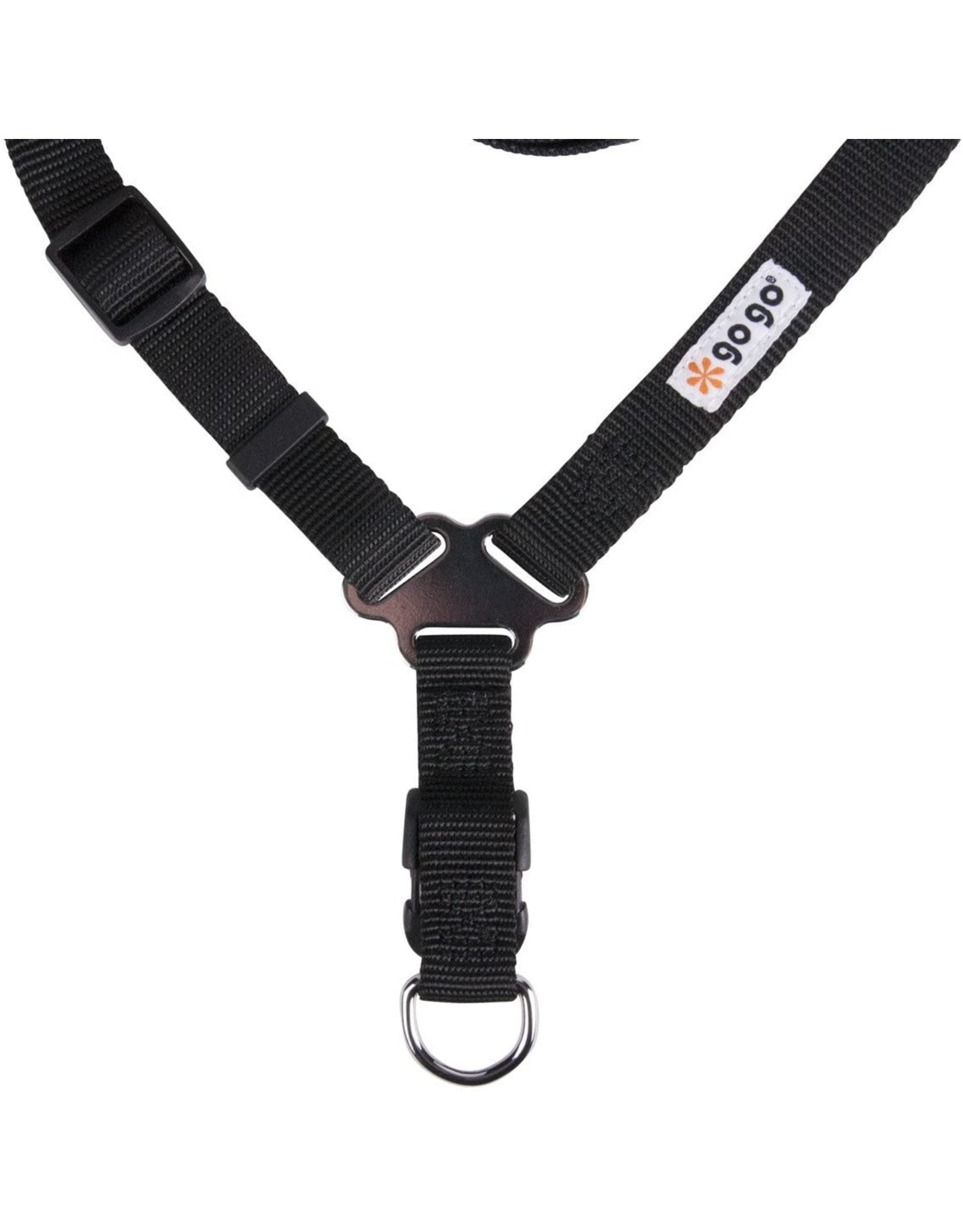 GoGo Pet Products GOGO BLACK NYLON COMFY HARNESS FOR DOGS