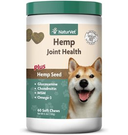 NaturVet NATURVET JOINT HEALTH PLUS HEMP SEED SOFT CHEWS FOR DOGS 60-COUNT