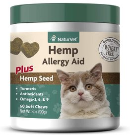 NaturVet NATURVET ALLERGY AID PLUS HEMP SEED SOFT CHEWS FOR CATS 60-COUNT
