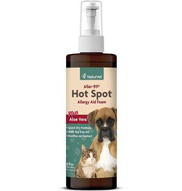 NaturVet NATURVET ALLER-911 HOT SPOT ALLERGY AID FOAM PLUS ALOE VERA 8OZ