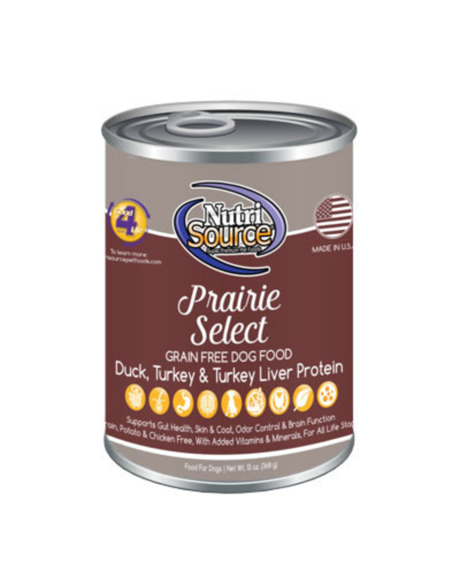 NutriSource Pet Foods NUTRISOURCE DOG PRAIRIE SELECT 13OZ
