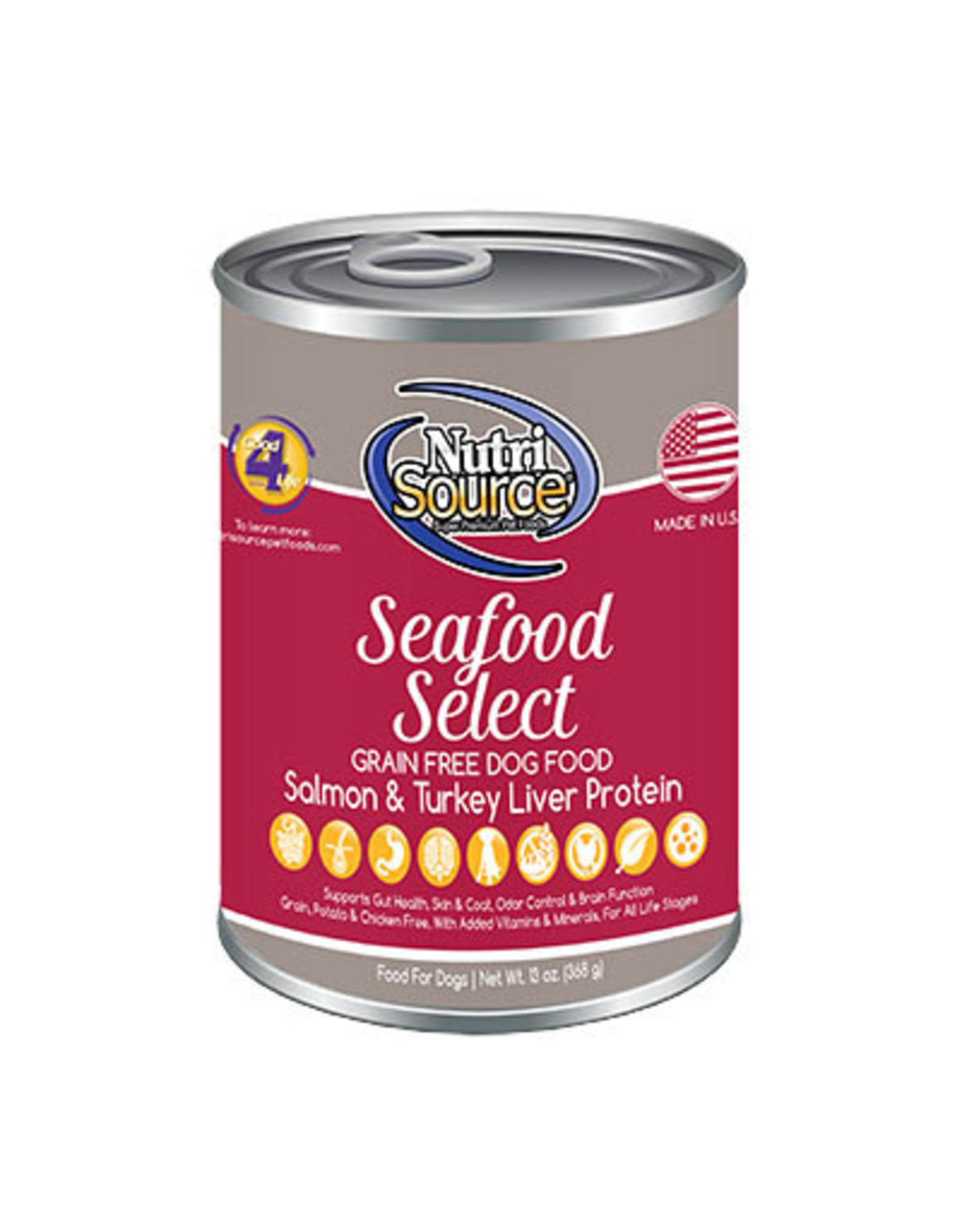 NutriSource Pet Foods NUTRISOURCE DOG SEAFOOD SELECT 13OZ