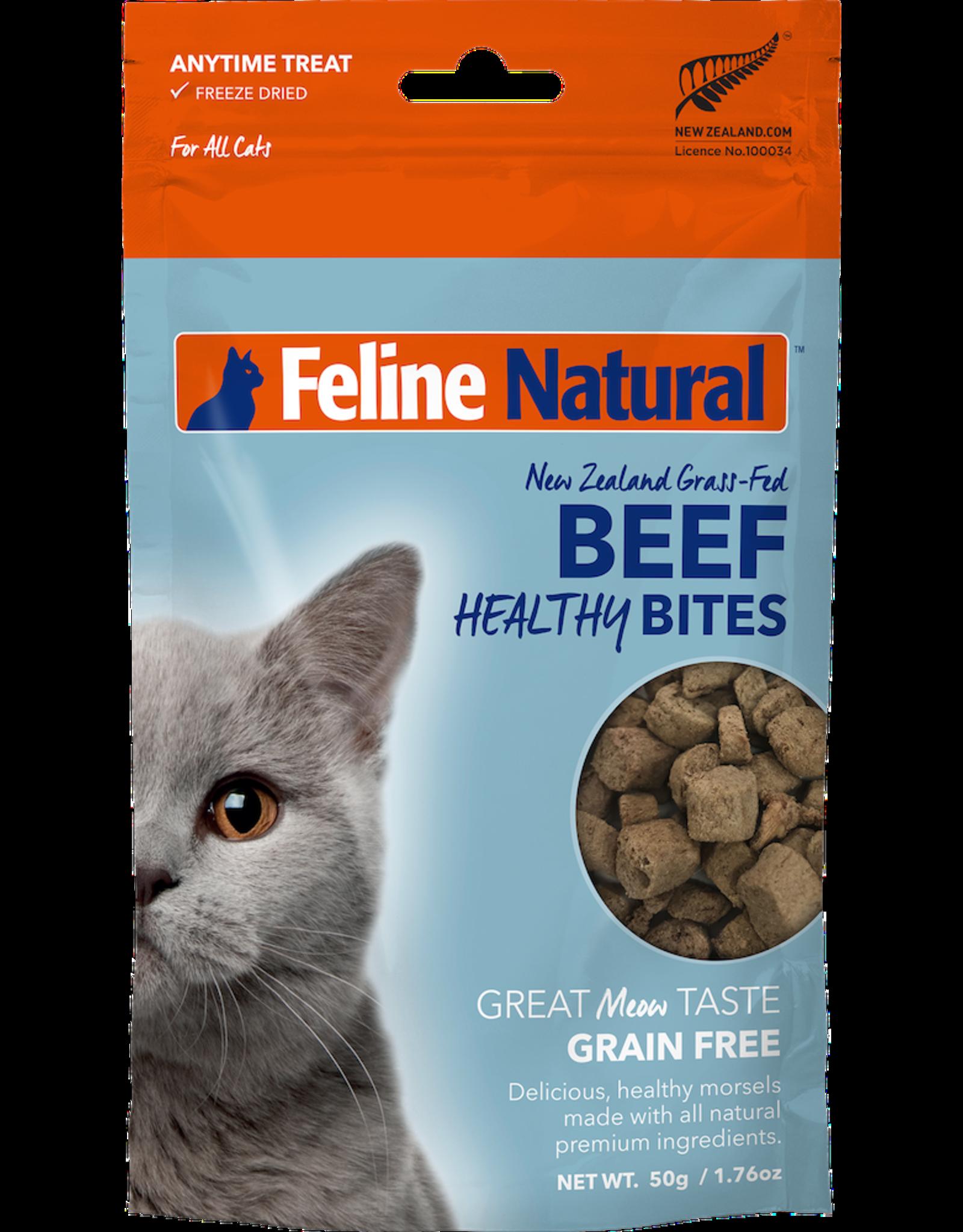 K9 Natural FELINE NATURAL BEEF HEALTHY BITES FREEZE DRIED CAT TREATS 1.76OZ