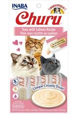 Inaba INABA CAT CHURU PURÉE TUNA WITH SALMON RECIPE 4-COUNT