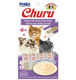 Inaba INABA CAT CHURU PURÉE CHICKEN WITH SHRIMP RECIPE 4-COUNT
