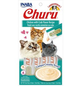 Inaba INABA CAT CHURU PURÉE CHICKEN WITH CRAB RECIPE 4-COUNT