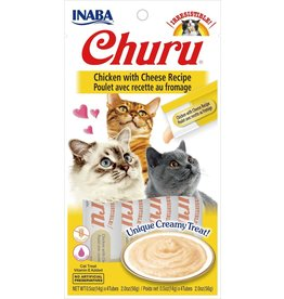 Inaba INABA CAT CHURU PURÉE CHICKEN WITH CHEESE RECIPE 4-COUNT