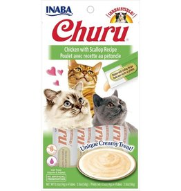 Inaba INABA CAT CHURU PURÉE CHICKEN WITH SCALLOP RECIPE 4-COUNT