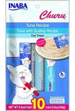 Inaba INABA CAT CHURU PURÉE TUNA & TUNA WITH SCALLOP RECIPE 10-COUNT