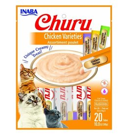 Inaba INABA CAT CHURU PURÉE CHICKEN VARIETIES 20-COUNT