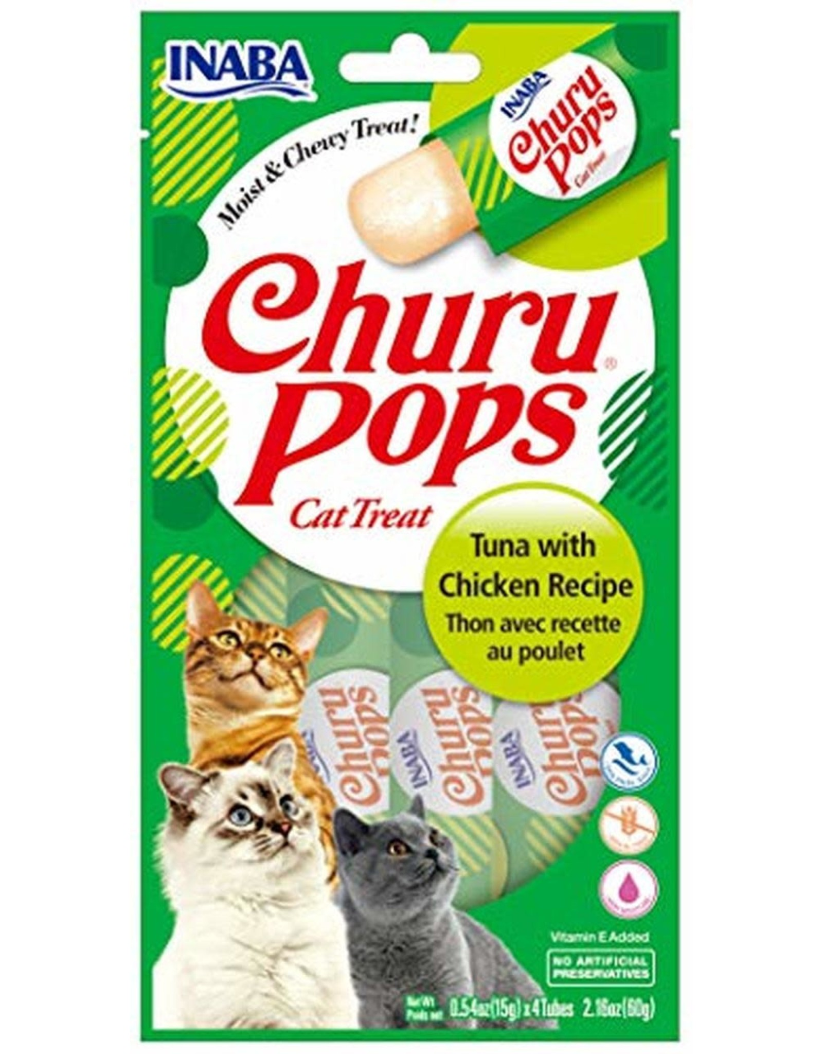 Inaba INABA CAT CHURU POPS TUNA WITH CHICKEN RECIPE 4-COUNT