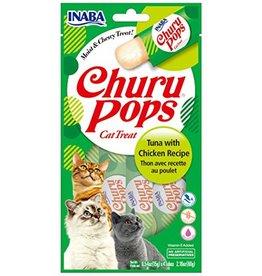 Inaba INABA CAT CHURU POPS TUNA WITH CHICKEN RECIPE 4-COUNT