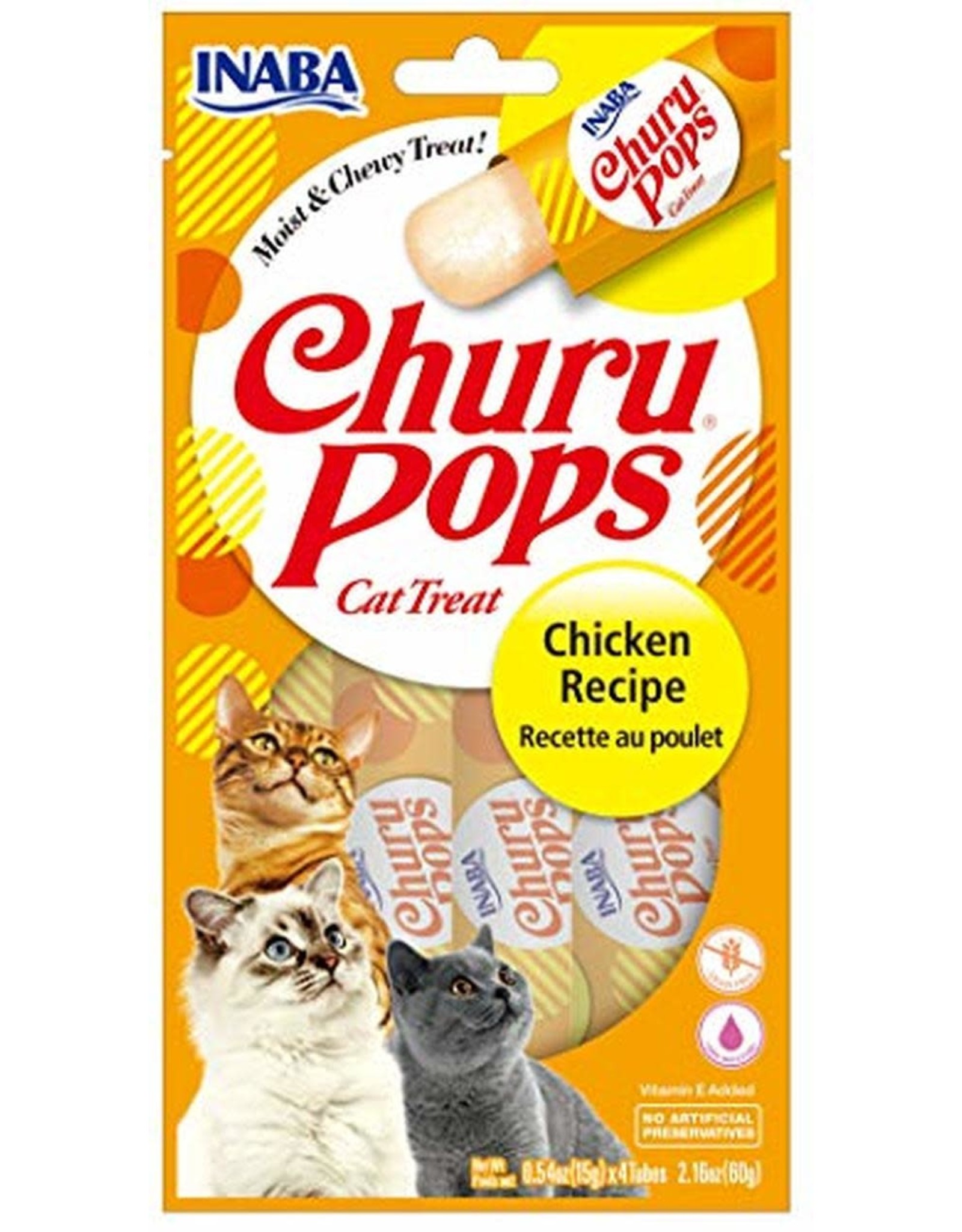Inaba INABA CAT CHURU POPS CHICKEN RECIPE 4-COUNT
