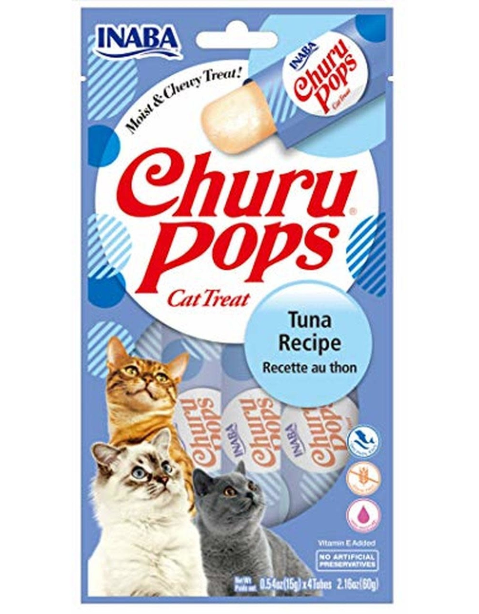 Inaba INABA CAT CHURU POPS TUNA RECIPE 4-COUNT