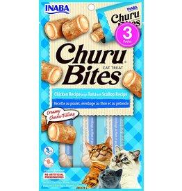 Inaba INABA CAT CHURU BITES CHICKEN RECIPE WRAPS TUNA WITH SCALLOP RECIPE 3-COUNT