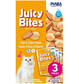 Inaba INABA CAT FISH FLAVOR & CLAM FLAVOR JUICY BITES 3-COUNT