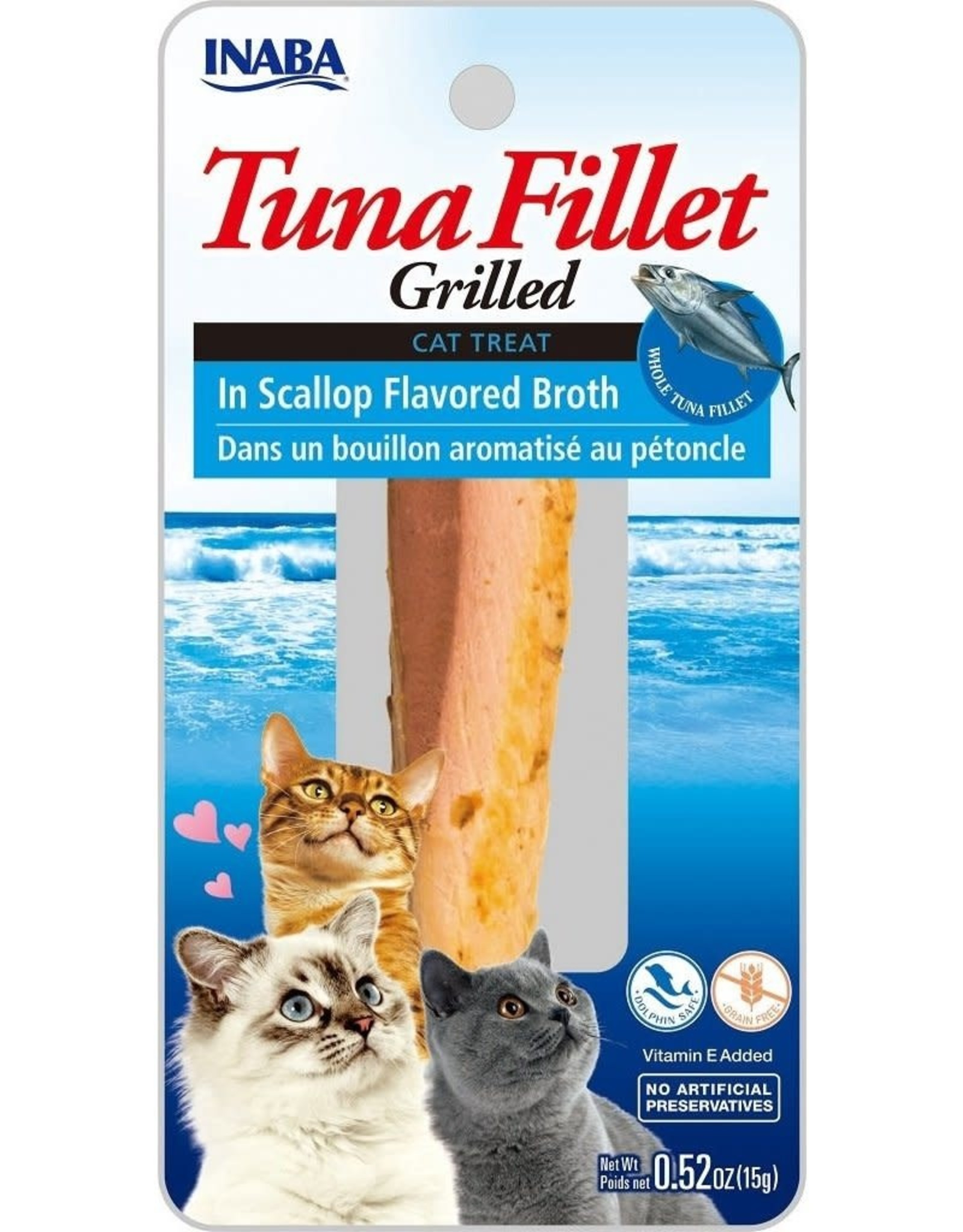 Inaba INABA CAT GRILLED TUNA FILLET IN SCALLOP FLAVORED BROTH .52OZ