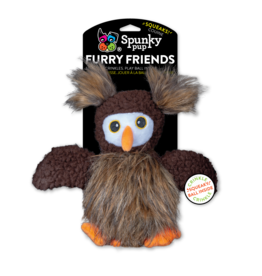 Spunky Pup SPUNKY PUP FURRY FRIENDS OWL WITH BALL SQUEAKER TOY