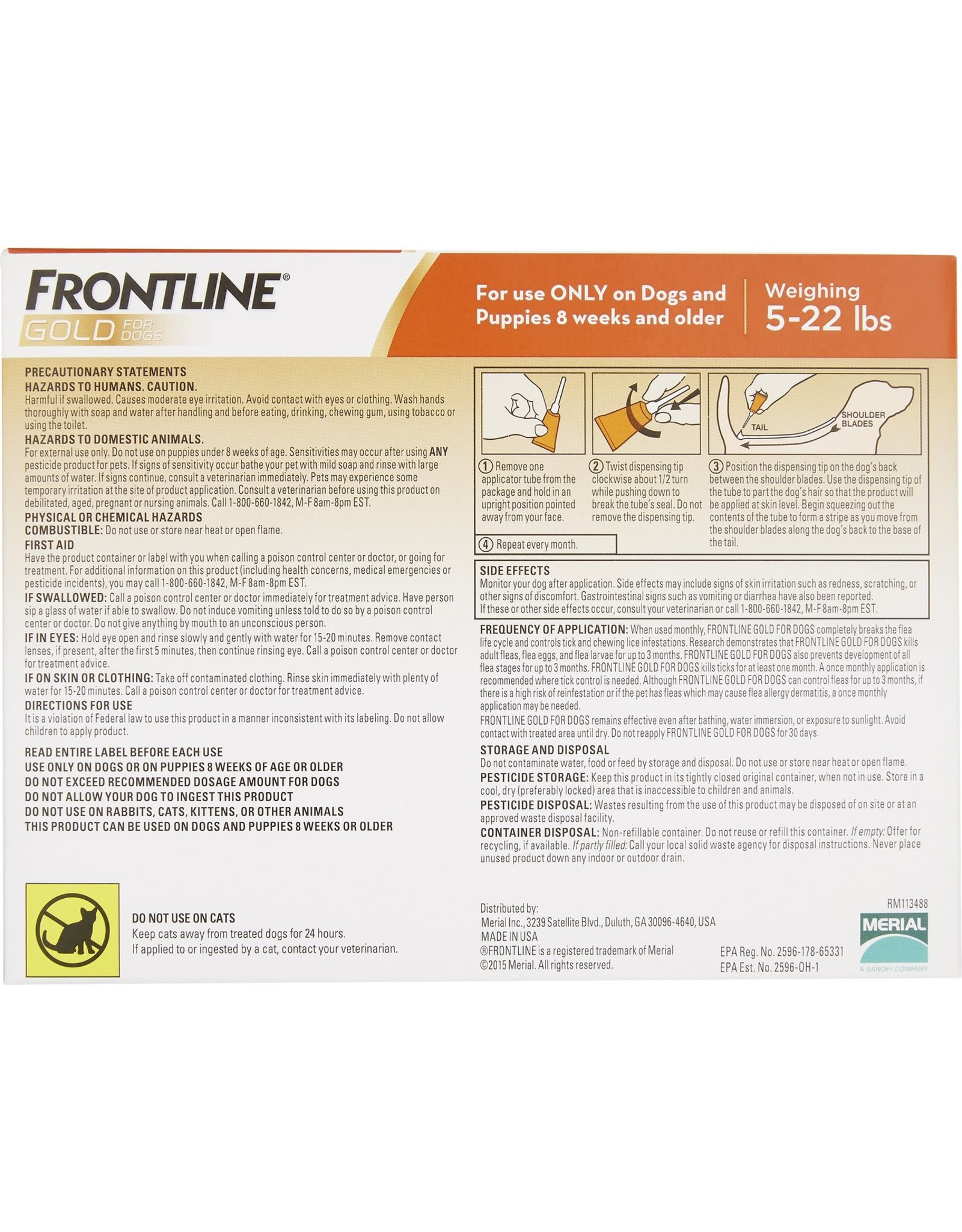 Frontline FRONTLINE GOLD FOR DOGS FLEA & TICK TOPICAL SOLUTION 3 DOSES