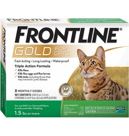Frontline FRONTLINE GOLD FOR CATS FLEA & TICK TOPICAL SOLUTION 3-COUNT