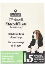 Natural Chemistry NATURAL CHEMISTRY DOG NATURAL FLEA & TICK SQUEEZE-ON 5 DOSES