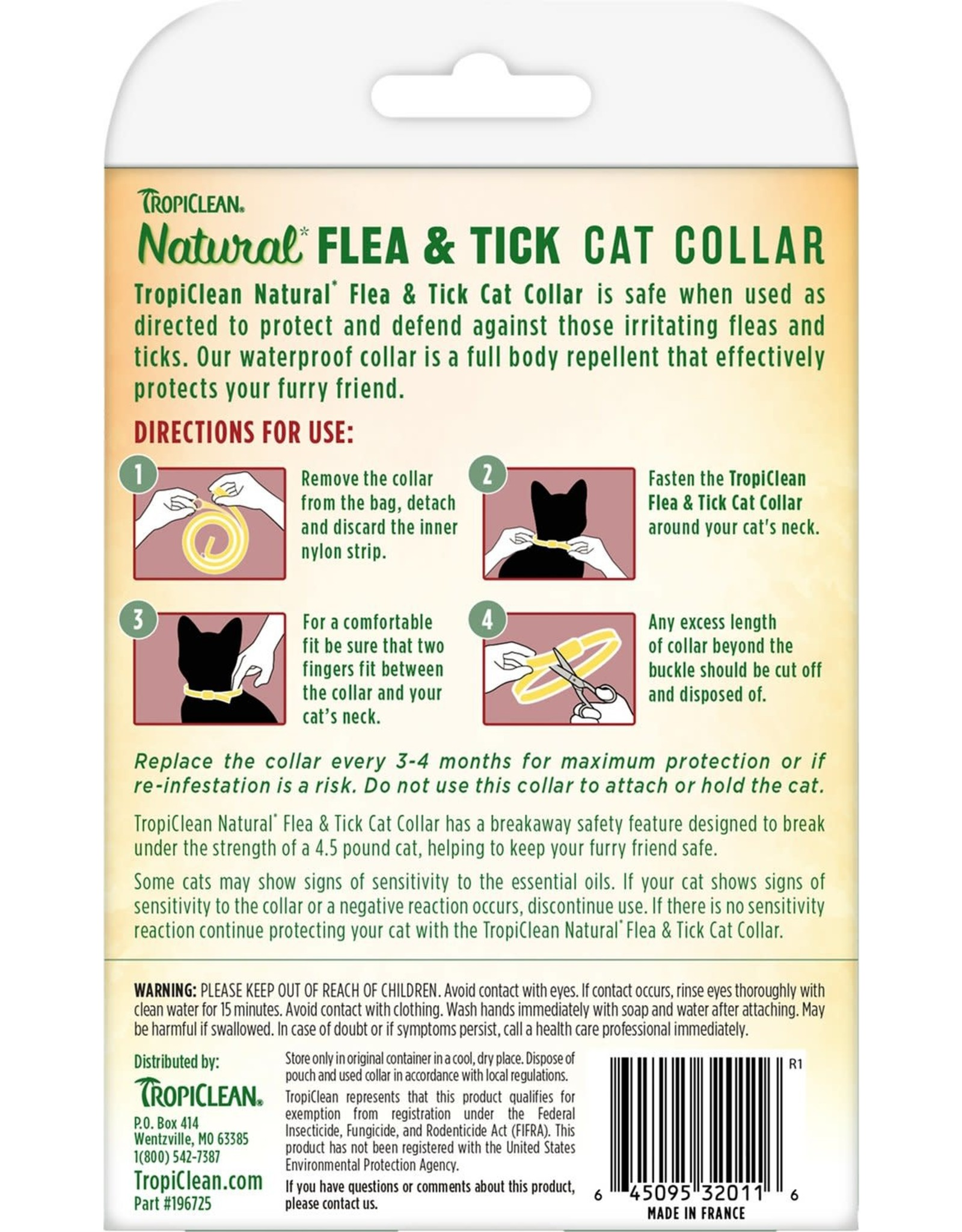 TropiClean TROPICLEAN NATURAL FLEA & TICK BREAKAWAY CAT COLLAR