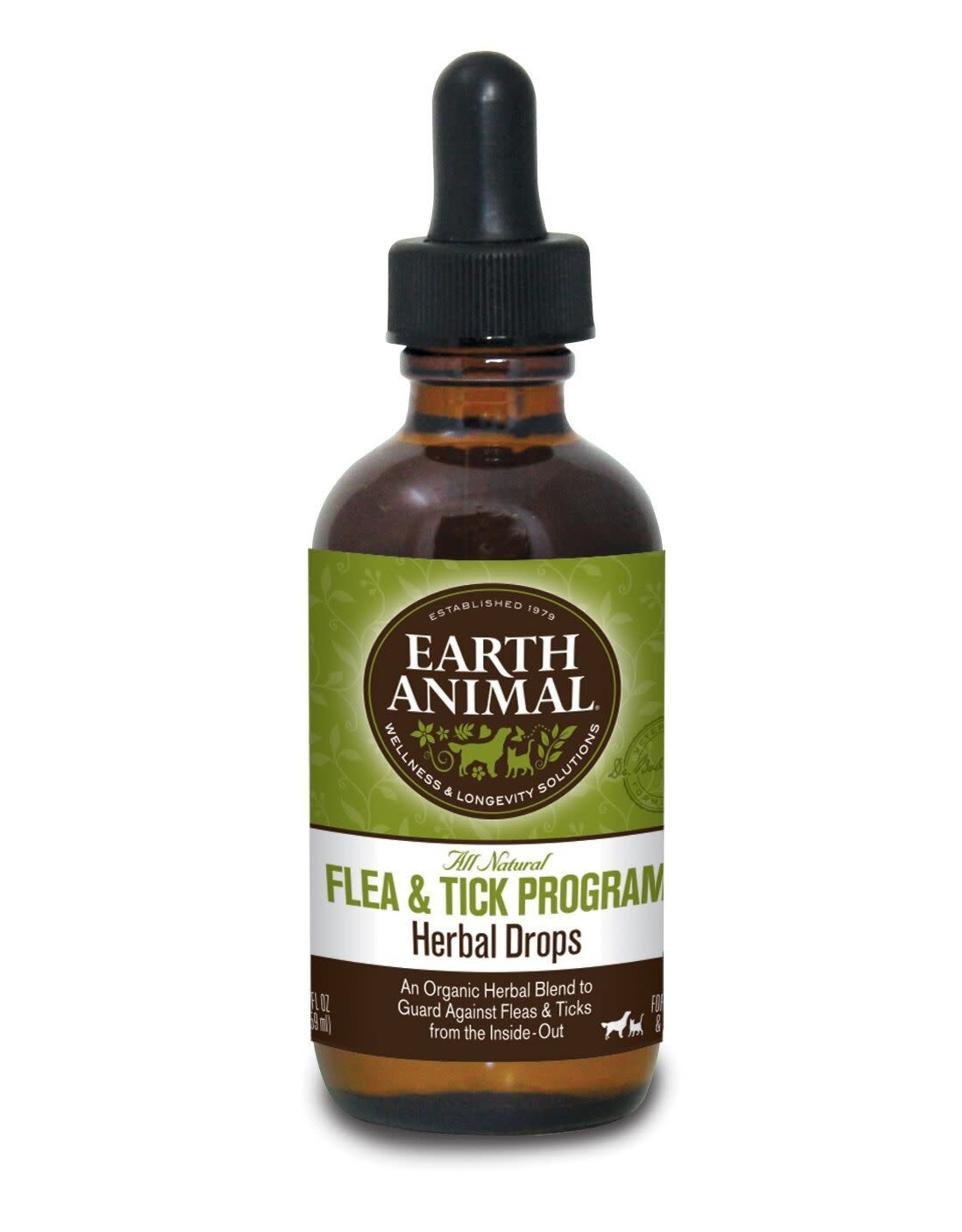Earth Animal EARTH ANIMAL NATURE'S PROTECTION DAILY HERBAL DROPS FOR CATS & DOGS 2OZ