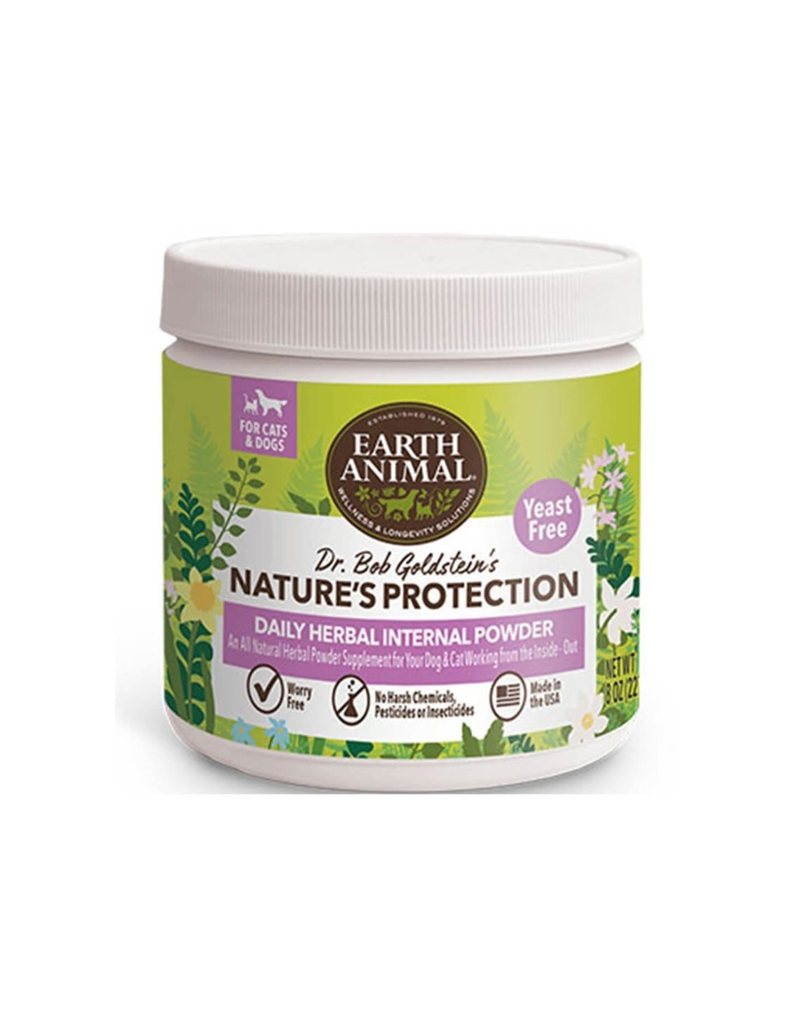 Earth Animal EARTH ANIMAL NATURE'S PROTECTION DAILY HERBAL INTERNAL POWDER 8OZ